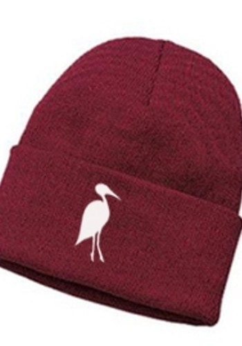 Copy of Sixteen Seventy Beanie Burgundy White
