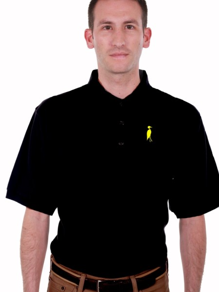 Sixteen Seventy Black Yellow Polo