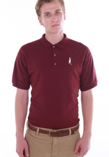 Sixteen Seventy Burgundy White Polo
