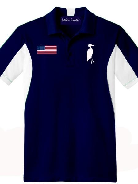 Sixteen Seventy Golf Polo Navywhite