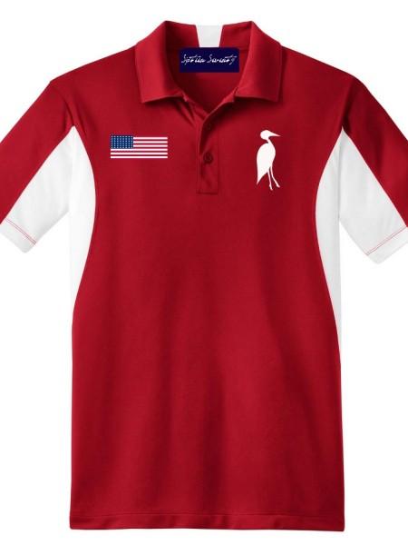 Sixteen Seventy Golf Polo Redwhite2