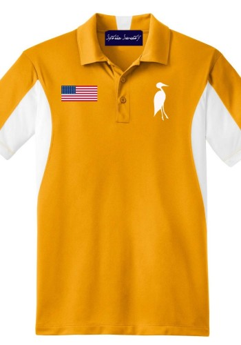 Sixteen Seventy Golf Polo Yellowwhite