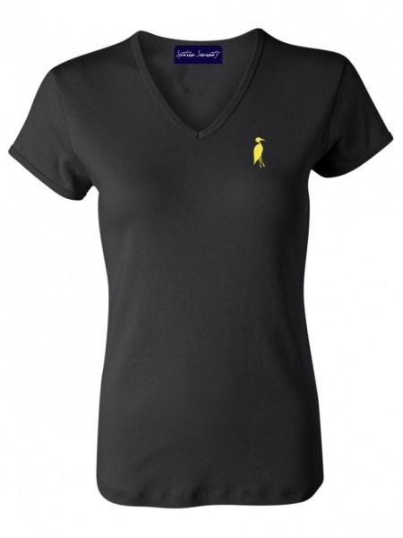 Sixteen Seventy Ladies Black Yellow Vneck