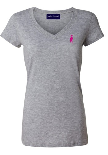 Sixteen Seventy Ladies Grey Pink Vneck