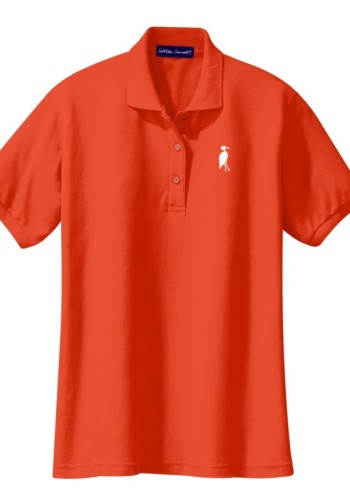 Sixteen Seventy Ladies Orange White Polo