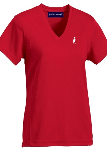 Sixteen Seventy Ladies Red White V neck