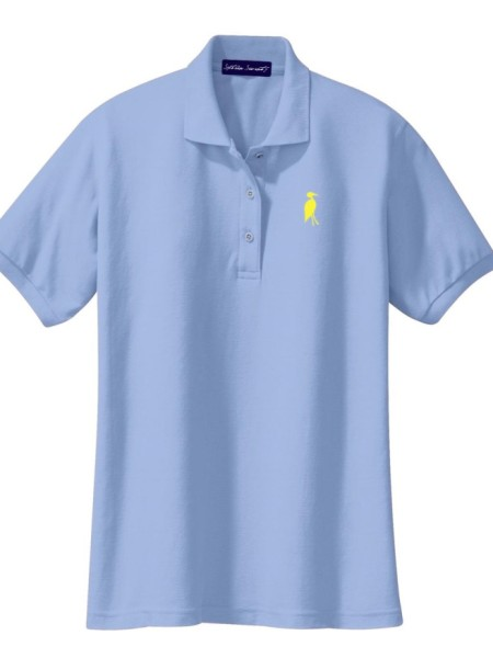 Sixteen Seventy Ladies Sky Blue Yellow Polo