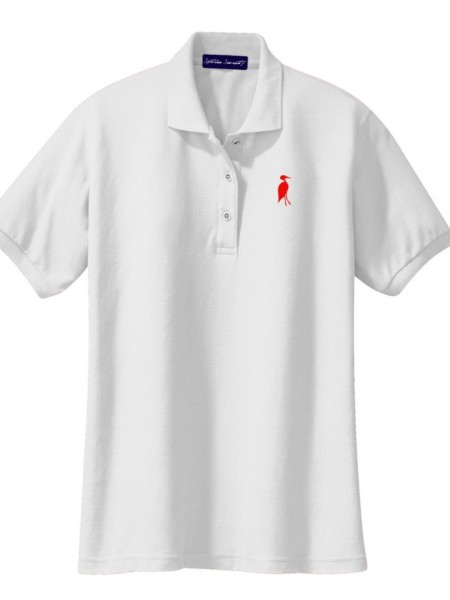 Sixteen Seventy Ladies White Red Polo