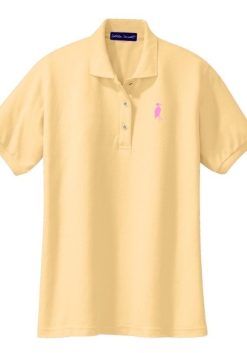 Sixteen Seventy Ladies Yellow Pink Polo