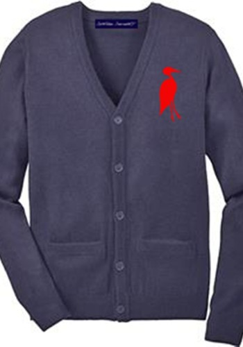 Sixteen Seventy Men's Cardigan Navy Red