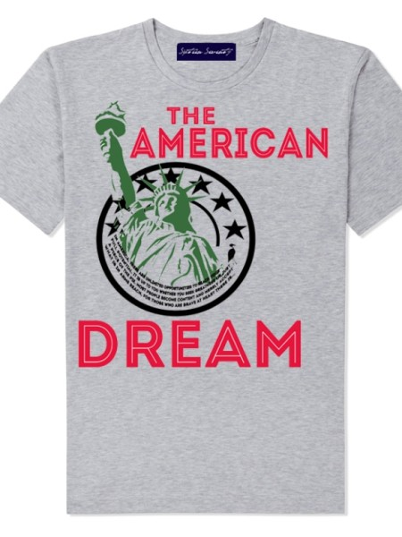 Sixteen Seventy Men's Grey American Dream T-shirt