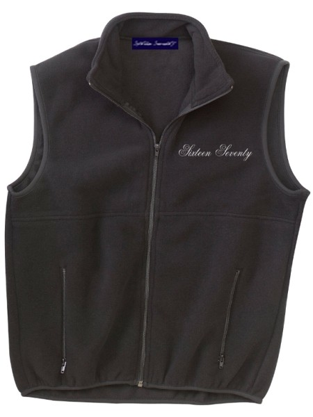 Sixteen Seventy Men's Outdoor Vest Black White