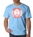 Sixteen Seventy Men's  Sky Blue Compass T-shirt