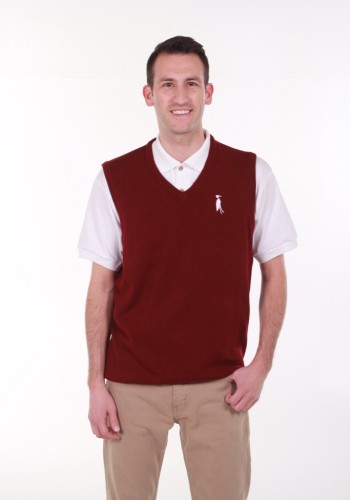 Sixteen Seventy Men's Sleeveless Vest Burgundy