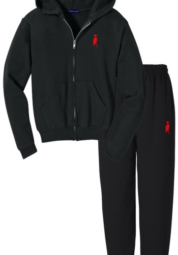Sixteen Seventy Men's Sweat Suit Black Red