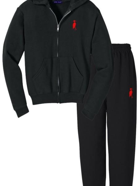Sixteen Seventy Men's Sweat Suit Black Red