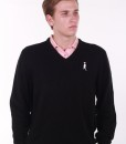 Sixteen Seventy Men's Sweater Vest  Black White