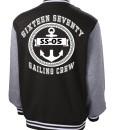 Sixteen Seventy Men's Varsity Jacket Back Black