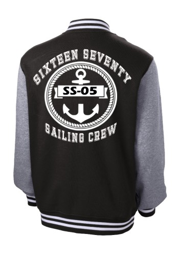 Sixteen Seventy Men's Varsity Jacket Back Black