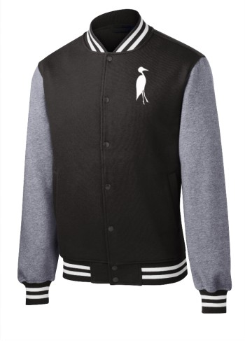 Sixteen Seventy Men's Varsity Jacket Black Grey