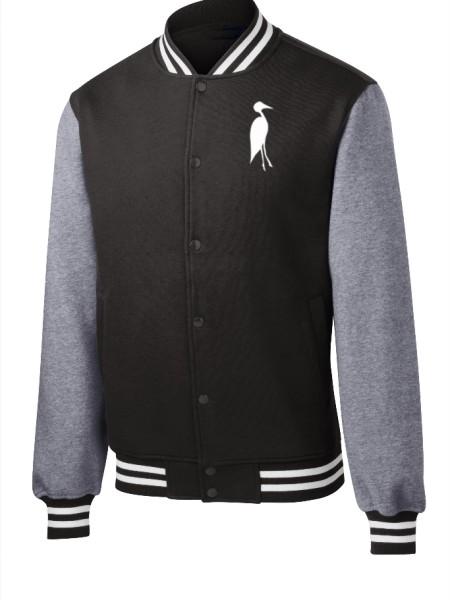 Sixteen Seventy Men's Varsity Jacket Black Grey