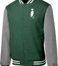 Sixteen Seventy Men's Varsity Jacket Forest Grey