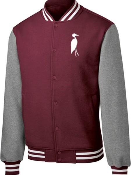 Sixteen Seventy Men's Varsity Jacket Maroon Grey