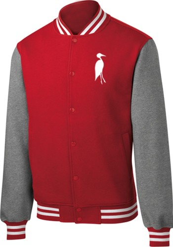 Sixteen Seventy Men's Varsity Jacket Red Grey
