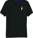Sixteen Seventy Men's V-neck Black White