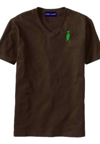 Sixteen Seventy Men's V-neck Brown Green