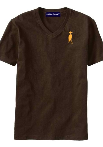 Sixteen Seventy Men's V-neck Brown Orange