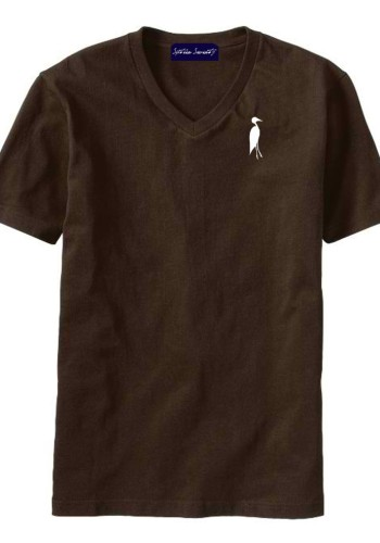 Sixteen Seventy Men's V-neck Brown White