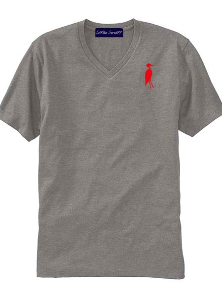 Sixteen Seventy Men's V-neck Grey Red