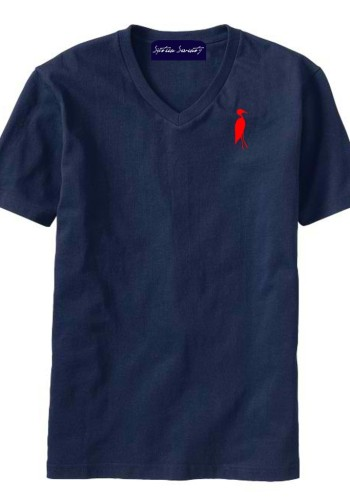 Sixteen Seventy Men's V-neck Navy Red