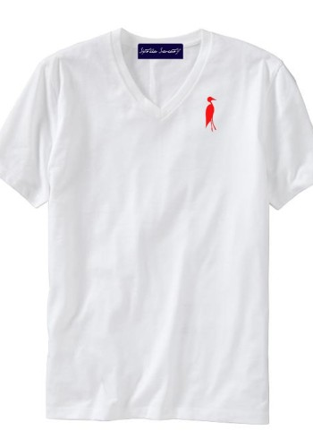 Sixteen Seventy Men's V-neck White Red