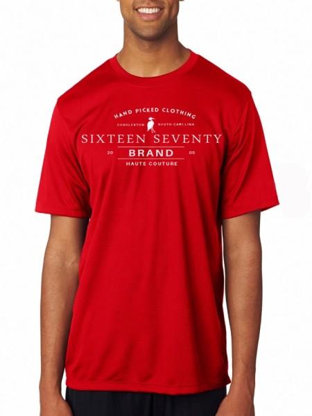 Sixteen Seventy Red Handmade T-shirt