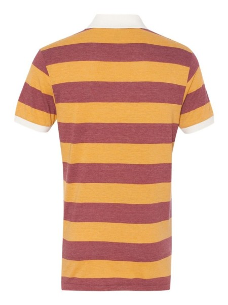 Sixteen Seventy Striped Polo Orangered