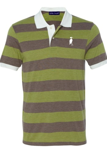Sixteen Seventy Striped Polo greenbrown
