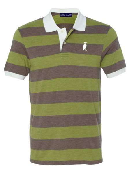 Sixteen Seventy Striped Polo greenbrown