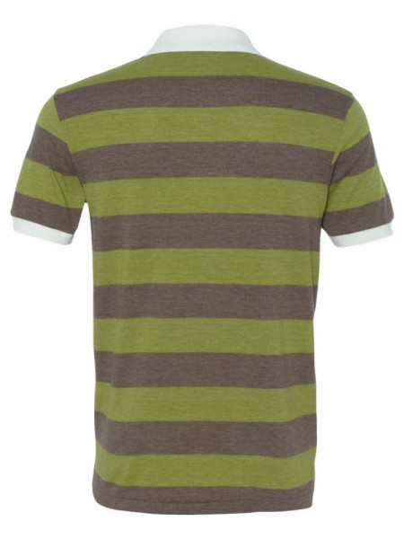 Sixteen Seventy Striped Polo greenbrownback
