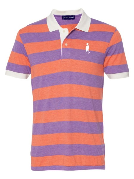 Sixteen Seventy Striped Polo orangepurple