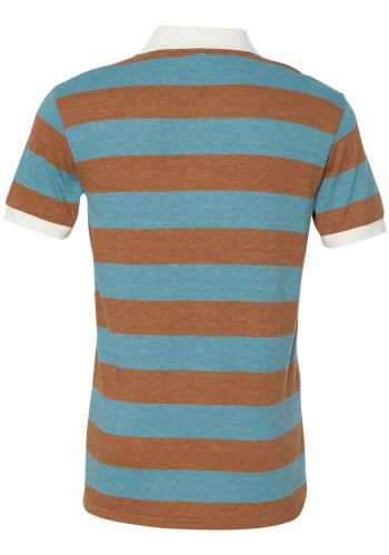 Sixteen Seventy Striped polo Brownblueback