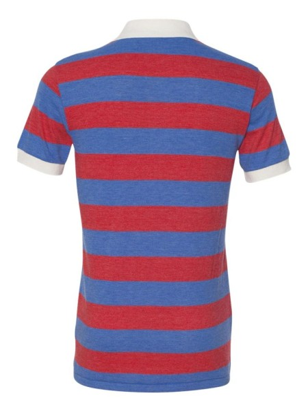 Sixteen Seventy Striped polo RedNavyback