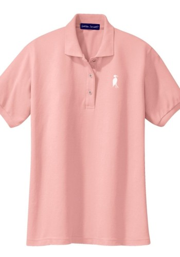Sixteen Seventy Ladies Pink White Polo