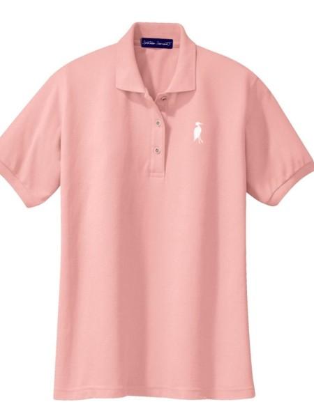 Sixteen Seventy Ladies Pink White Polo