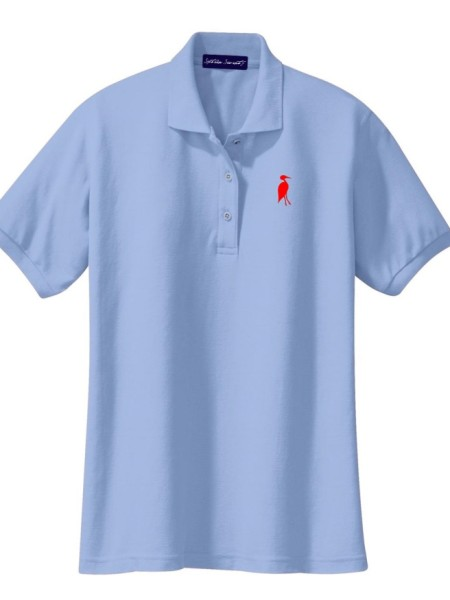 Sixteen Seventy Ladies Sky Blue Red Polo