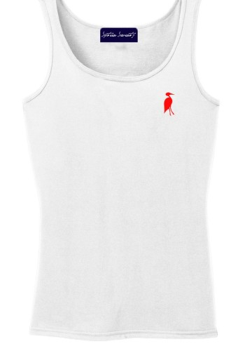 Sixteen Seventy Ladies Tank White Red