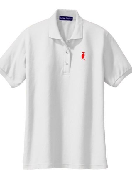Sixteen Seventy Ladies White Red Polo