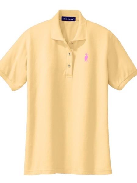 Sixteen Seventy Ladies Yellow Pink Polo