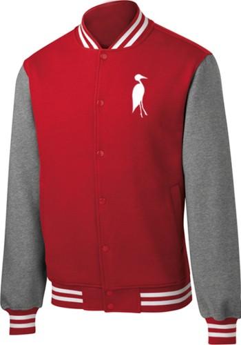 Sixteen Seventy Men's Varsity Jacket Red Grey
